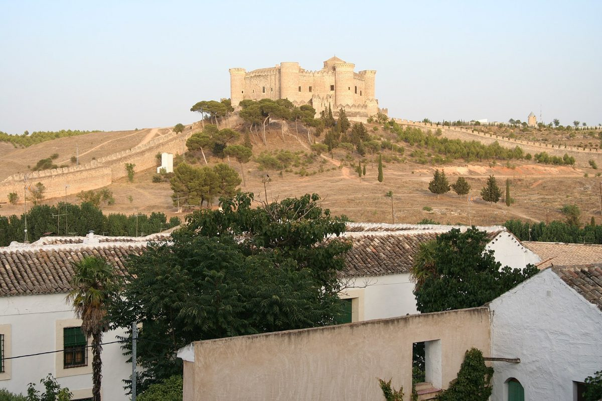 Castillo de Belmonte is a medieval castle on the hill of San Cristobal, just outside the village of Belmonte in the province of Cuenca.