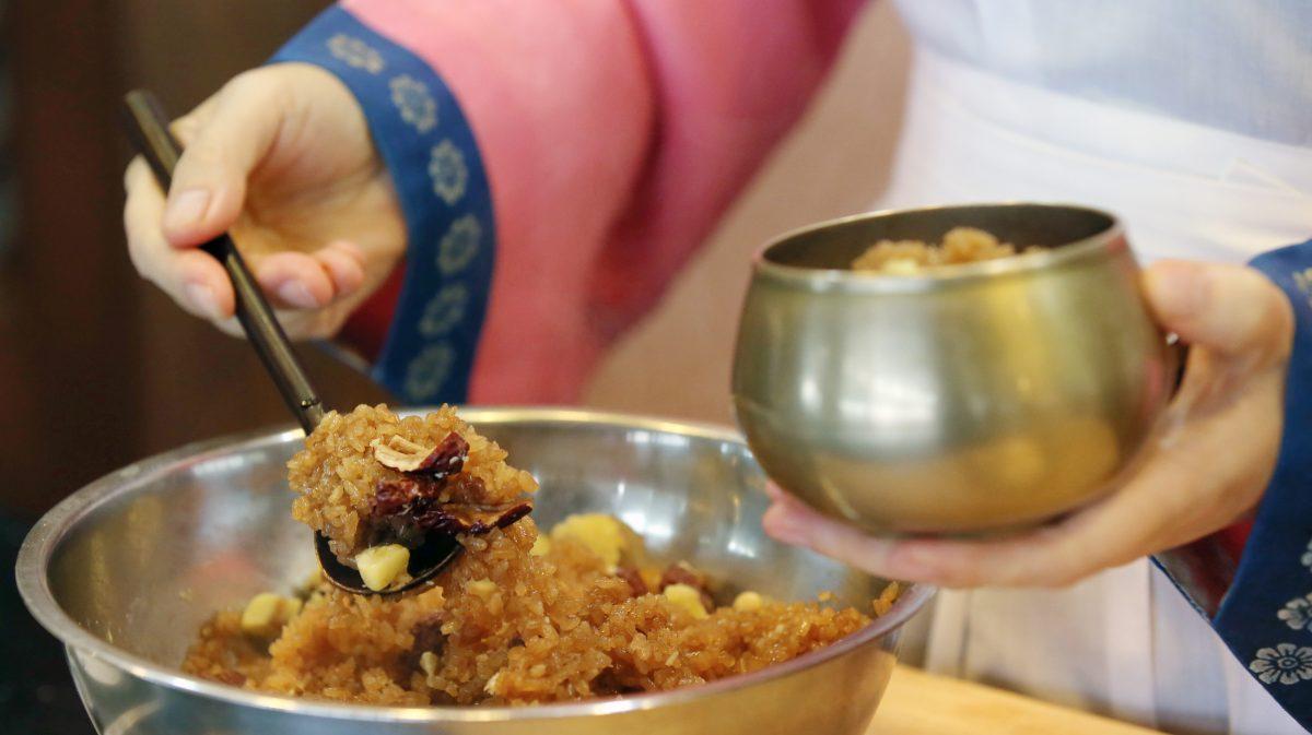 Yasik, Sweet Rice Dessert, Korean Food