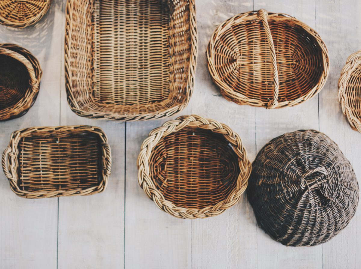 Baskets of different sizes