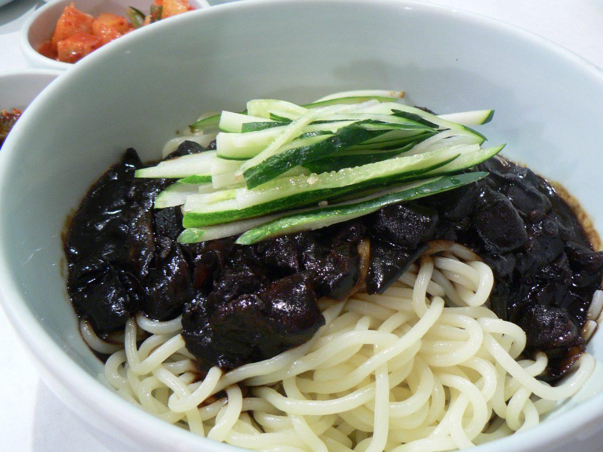 Jajangmyeong, Black Bean Noodles, Korean Food