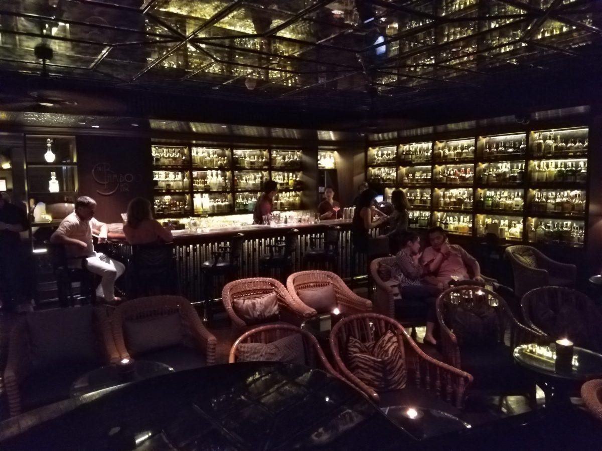 Bamboo Bar interior at night