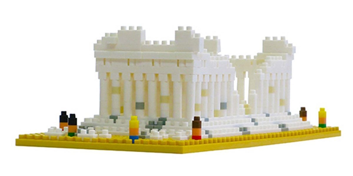Nanoblock, Sight to See, Architecture, Parthenon