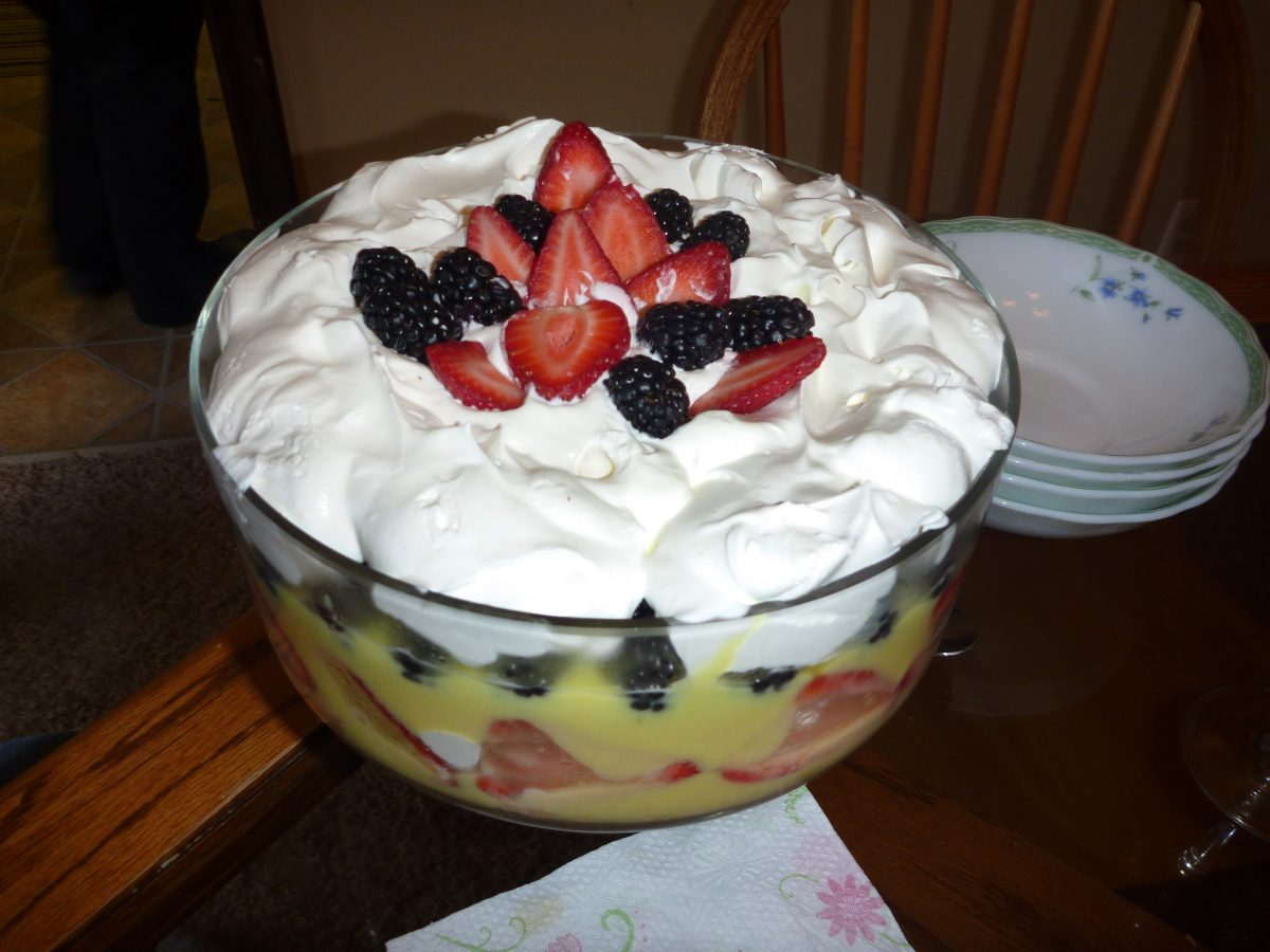 trifle, irish desserts