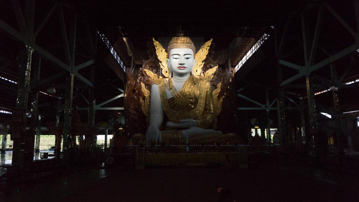 photo of the Five-Story Buddha at  the Nga Htat Gyi Pagoda