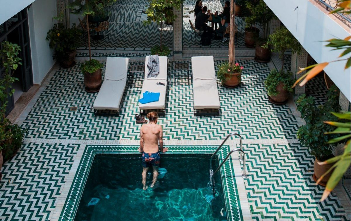 Man in a pool