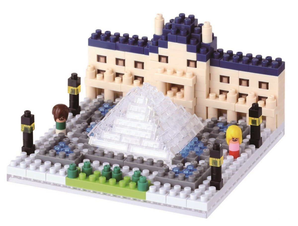 Nanoblock, Sight to See, Architecture, The Louvre Museum
