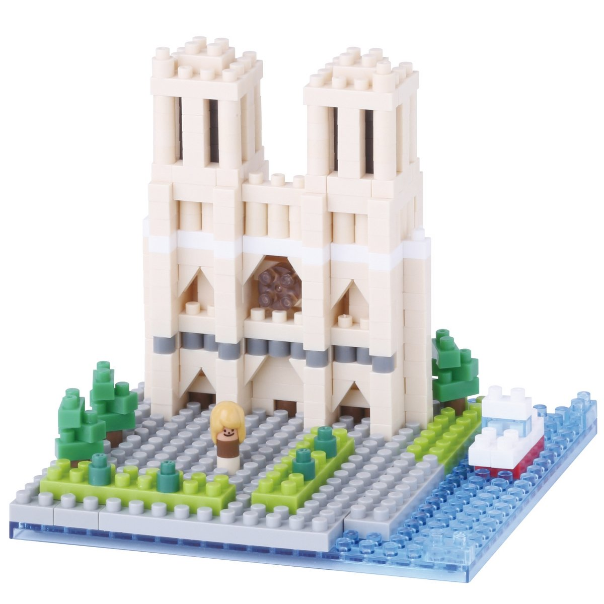 Nanoblock, Sight to See, Architecture, Notre Dame Cathedral