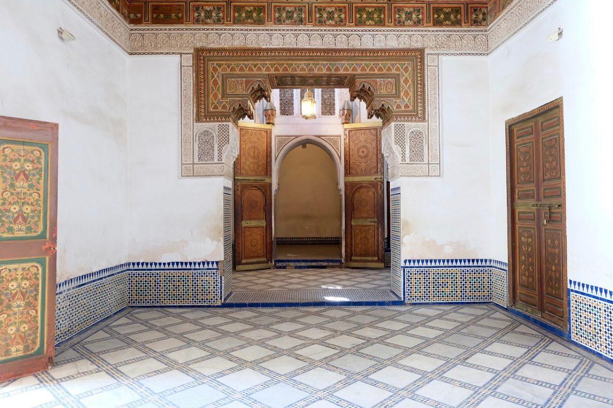 A room inside the Bahia Palace