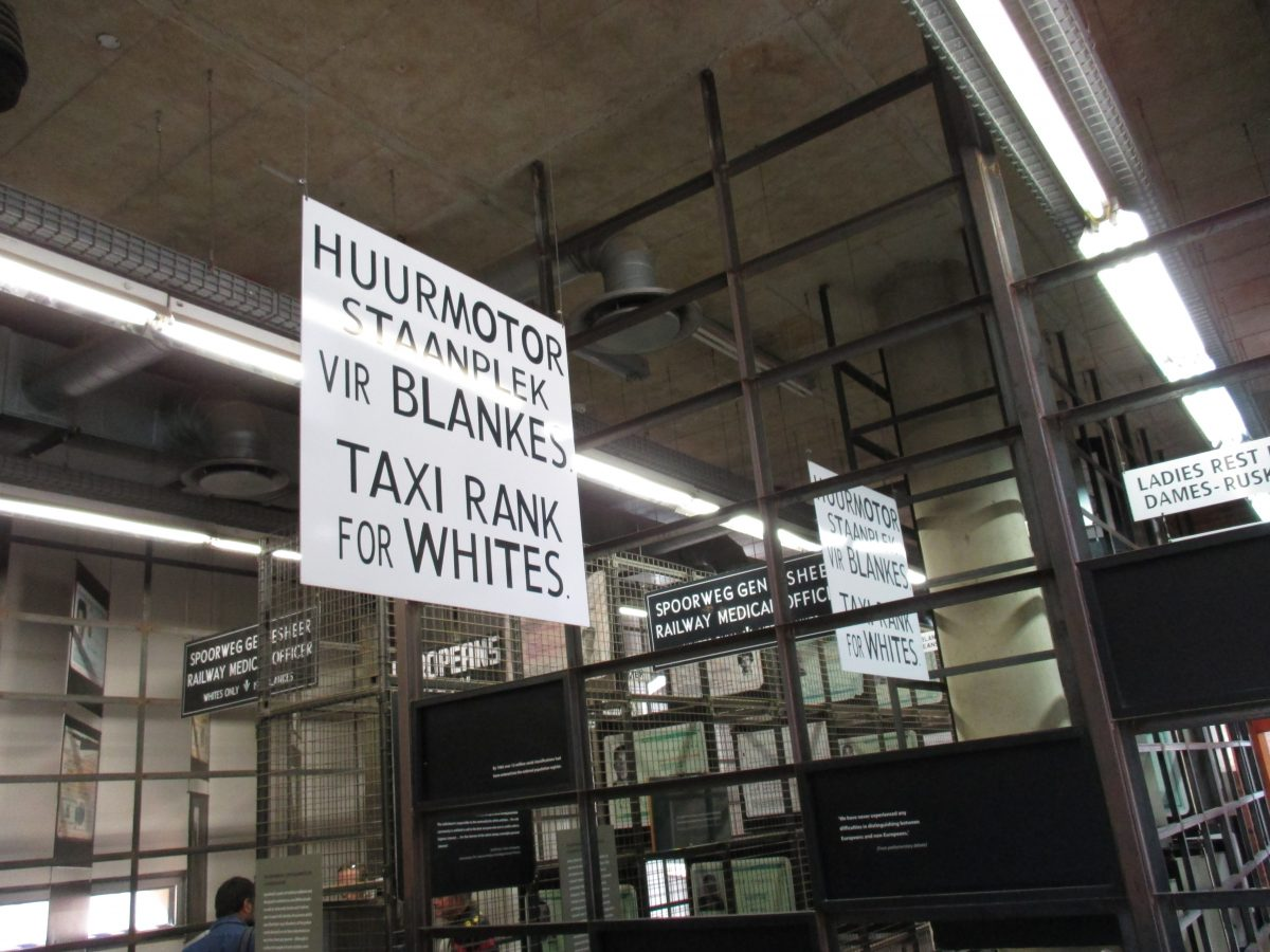 The Apartheid Museum allows you to experience racial profiling, discrimination and segregation that permeated South African society between 1948 and 1994.
