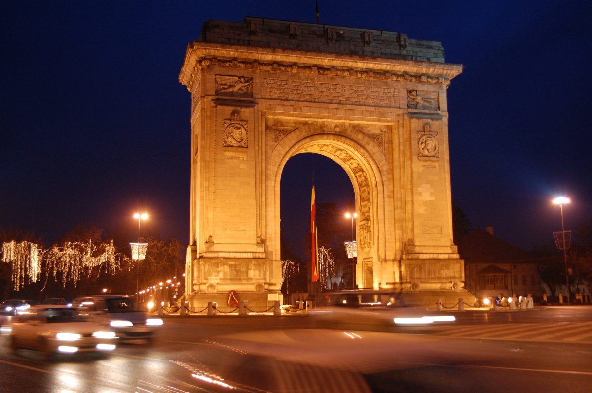 Placed in the north part of Bucharest, the Triumphal Arc was first built in 1878 as a symbol of Romanian independence.