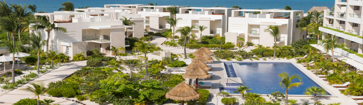 Panoramic shot of the all-inclusive resort — Beloved Playa Mujeres