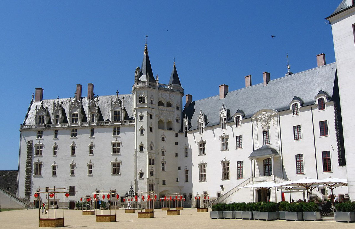 a few people seen walking around the beautiful Magical Chateau Des Ducs De Bretagne