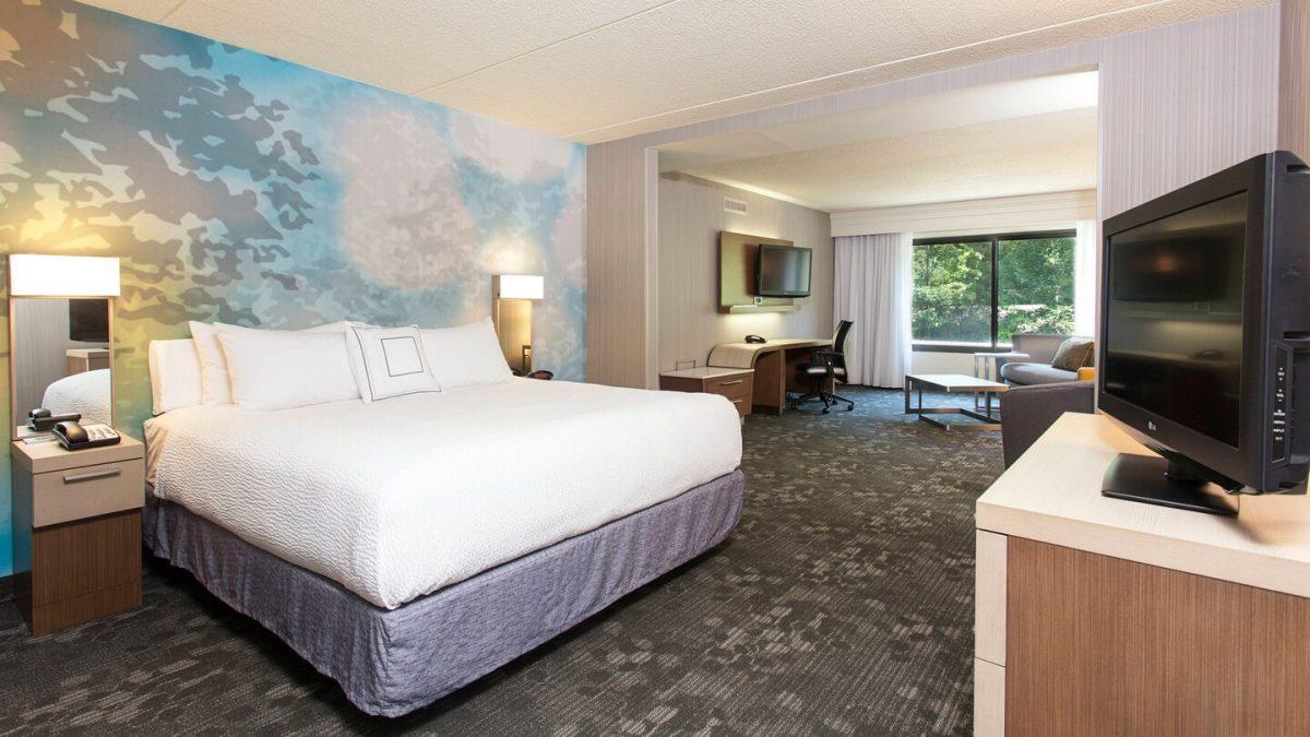 One-Bedroom King Suite at the Courtyard Marriott Binghamton