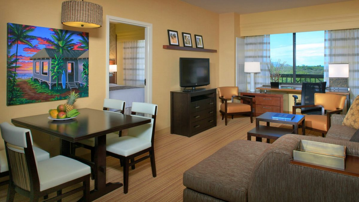 Suite Living Room at the Courtyard Marriott Maui Kahului Airport