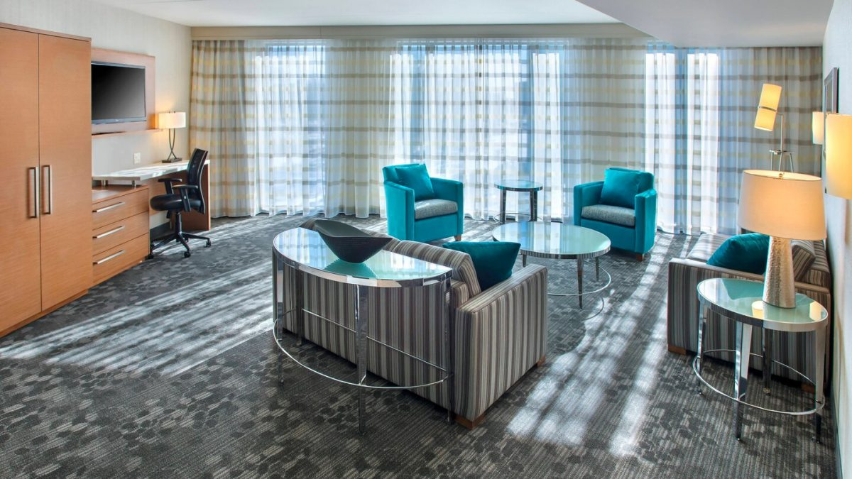 Queen Suite at the Courtyard Marriott Philadelphia South At The Navy Yard