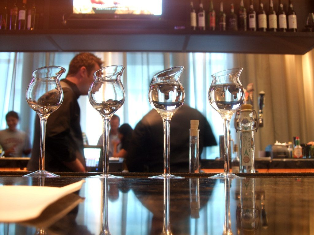 restaurant, glass, grappa