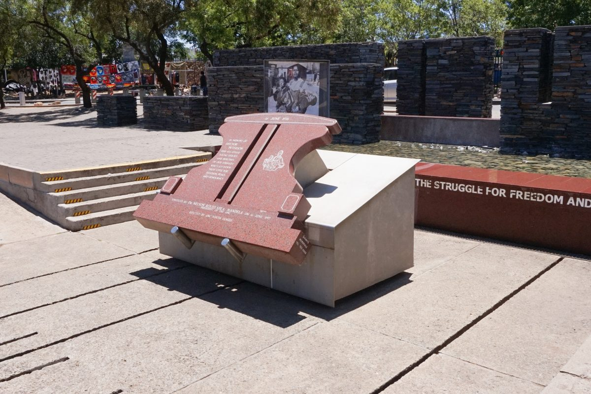'To honour the youth who gave their lives in the struggle for freedom and democracy' are the words that decorate the entrance to the Hector Pieterson Museum.