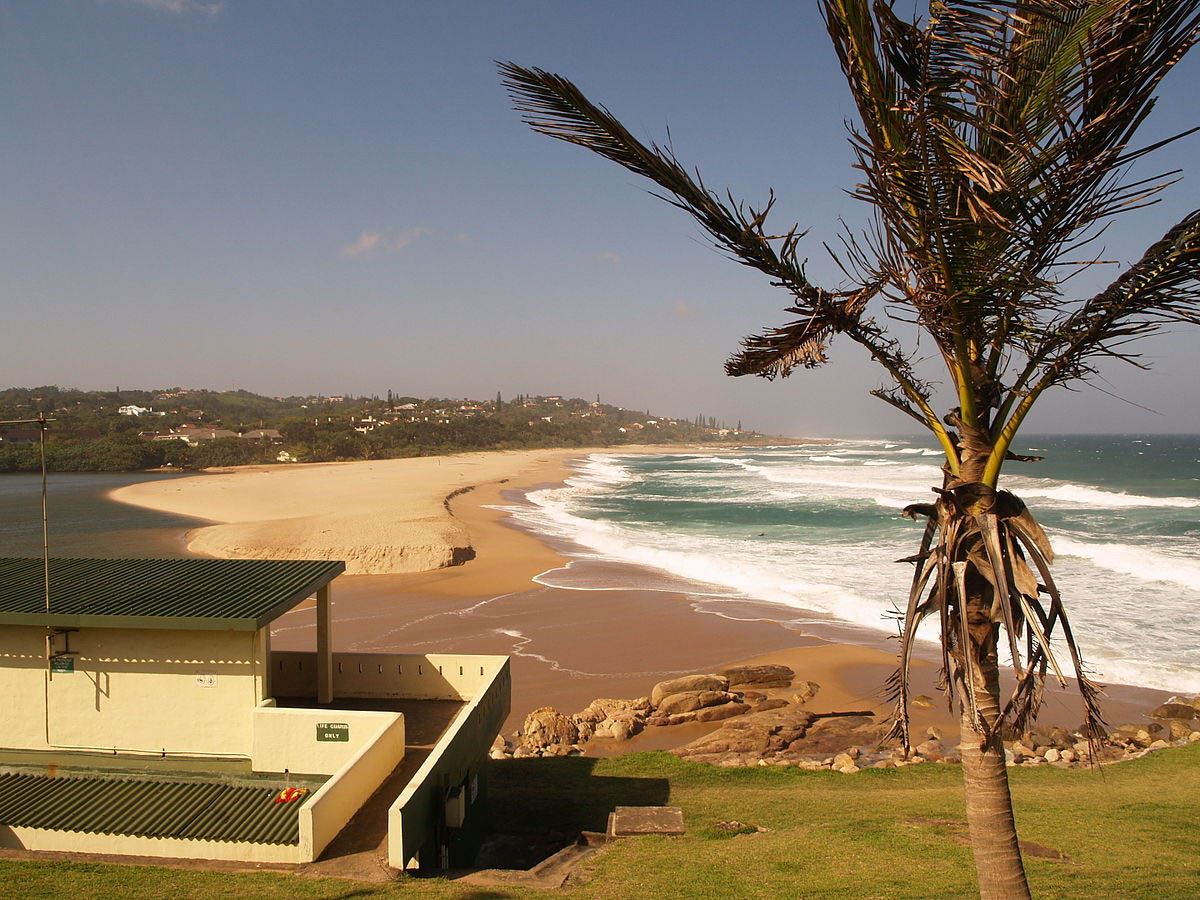 wide angle view of Southbroom beach at the Hibiscus Coast municipality