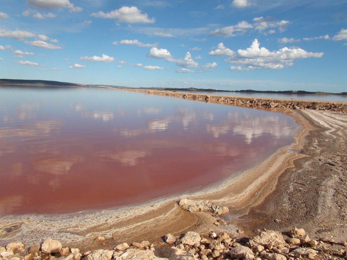 Hutt Lagoon, salt lakes Kalbarri, Australia