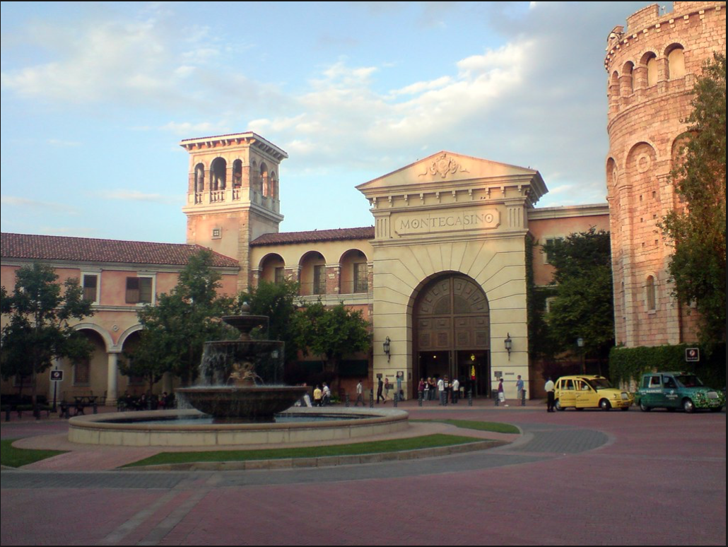 Visitors can play a fun game of blackjack or poker when you visit the famous 'play-on-words' Montecasino