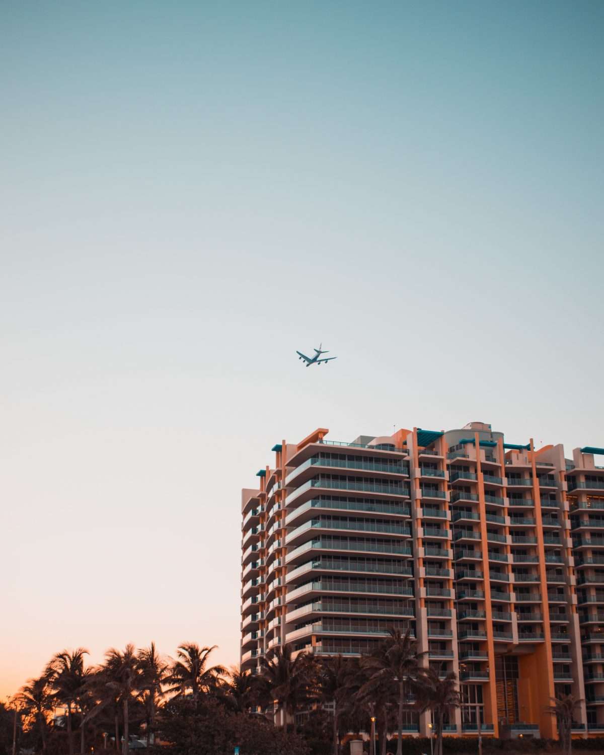 Fly over the hotel