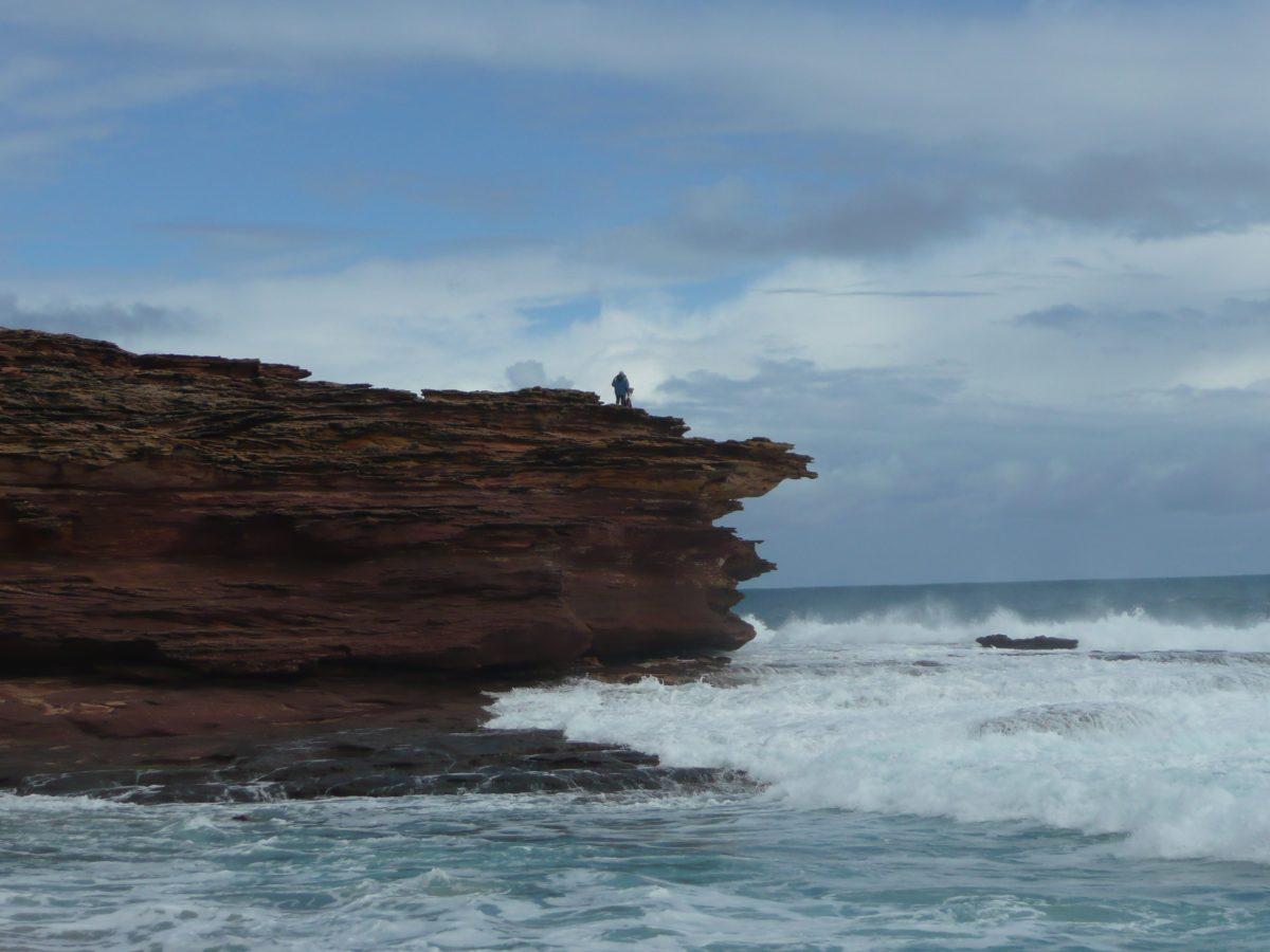 cliff, ocean, kalbarri