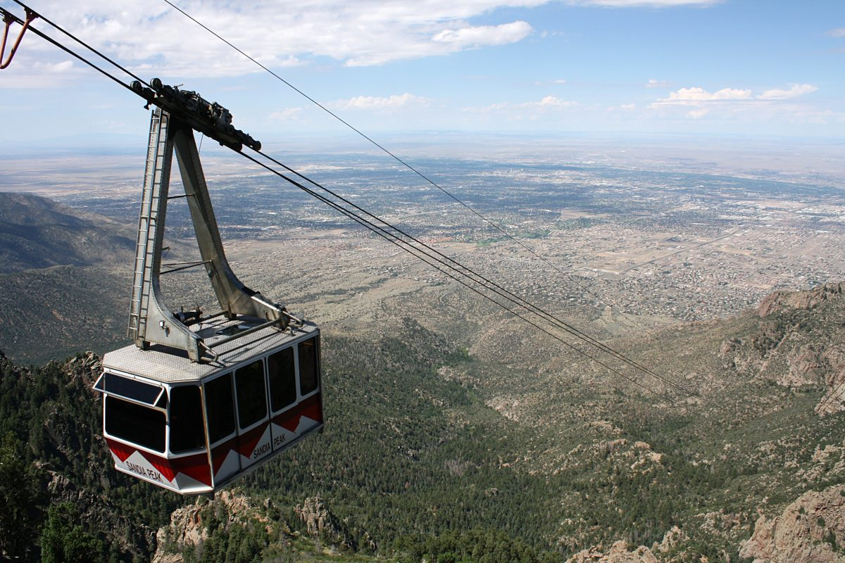 The best way to see the amazing natural surroundings of Albuquerque is to take a ride on the Sandia Peak Tramway.