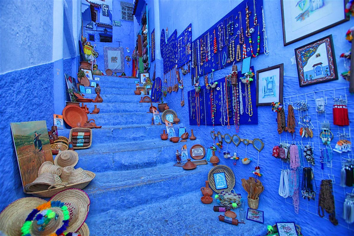 Shopping in Chefchaouen, Morocco