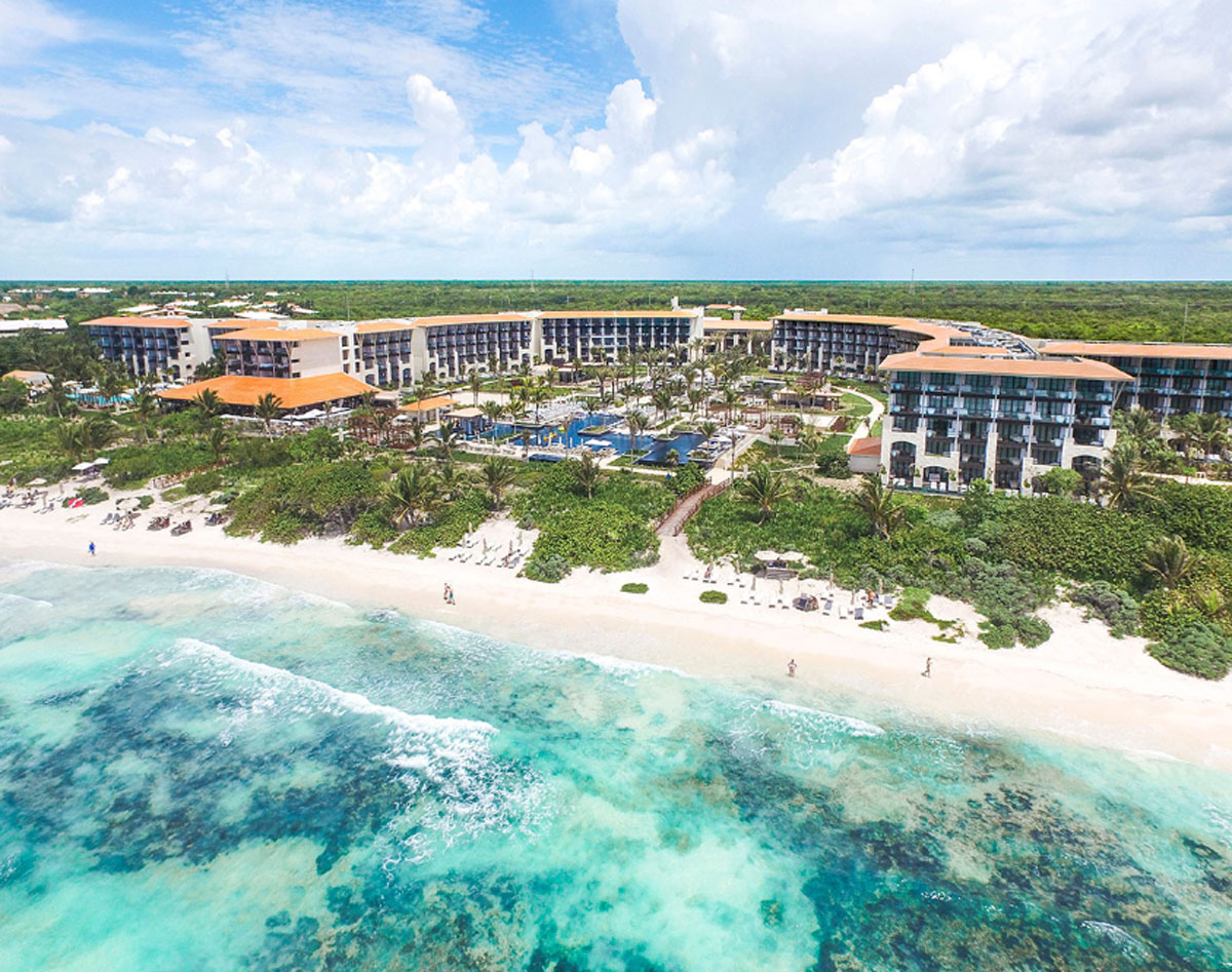 Aerial view of the beautiful Unico Hotel Riviera Maya all-inclusive resort