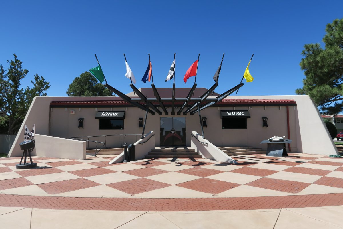 Inside the Unser Racing Museum, you can learn about the racing history and try the racing simulator to see how good you are in a race car.