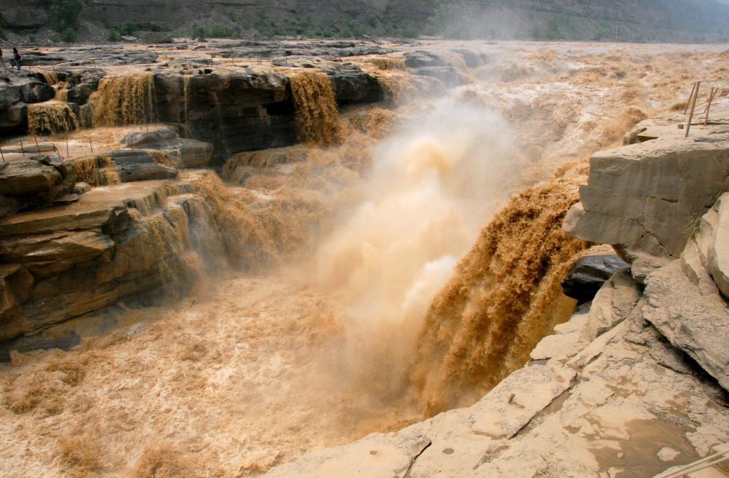 Yellow River, Huanghe, Hukou Waterfall