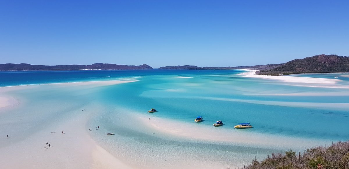 whitehaven beach, australia beaches