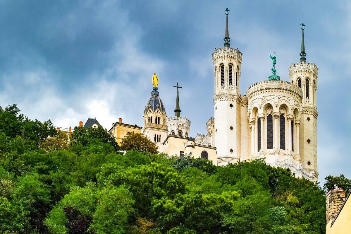 Lyon Basilica on a hill
