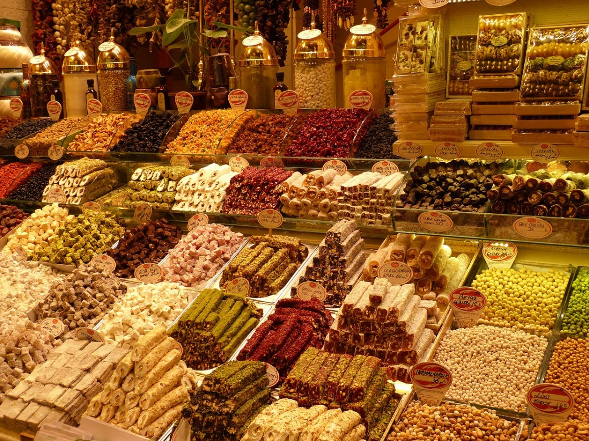 Spices and sweets at the Grand Bazaar in Istanbul