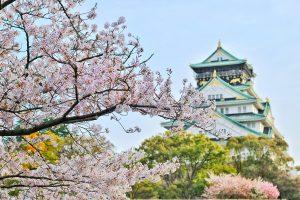 Osaka Castle in Springtime