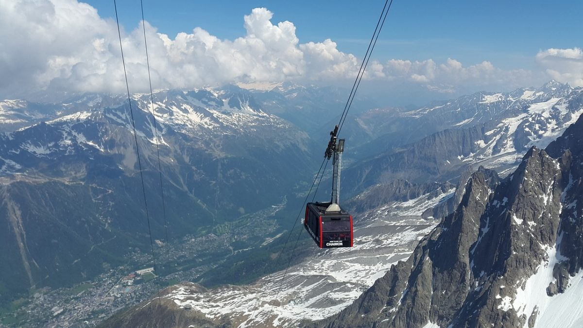 Cable Car from Chamoix to the French Alps