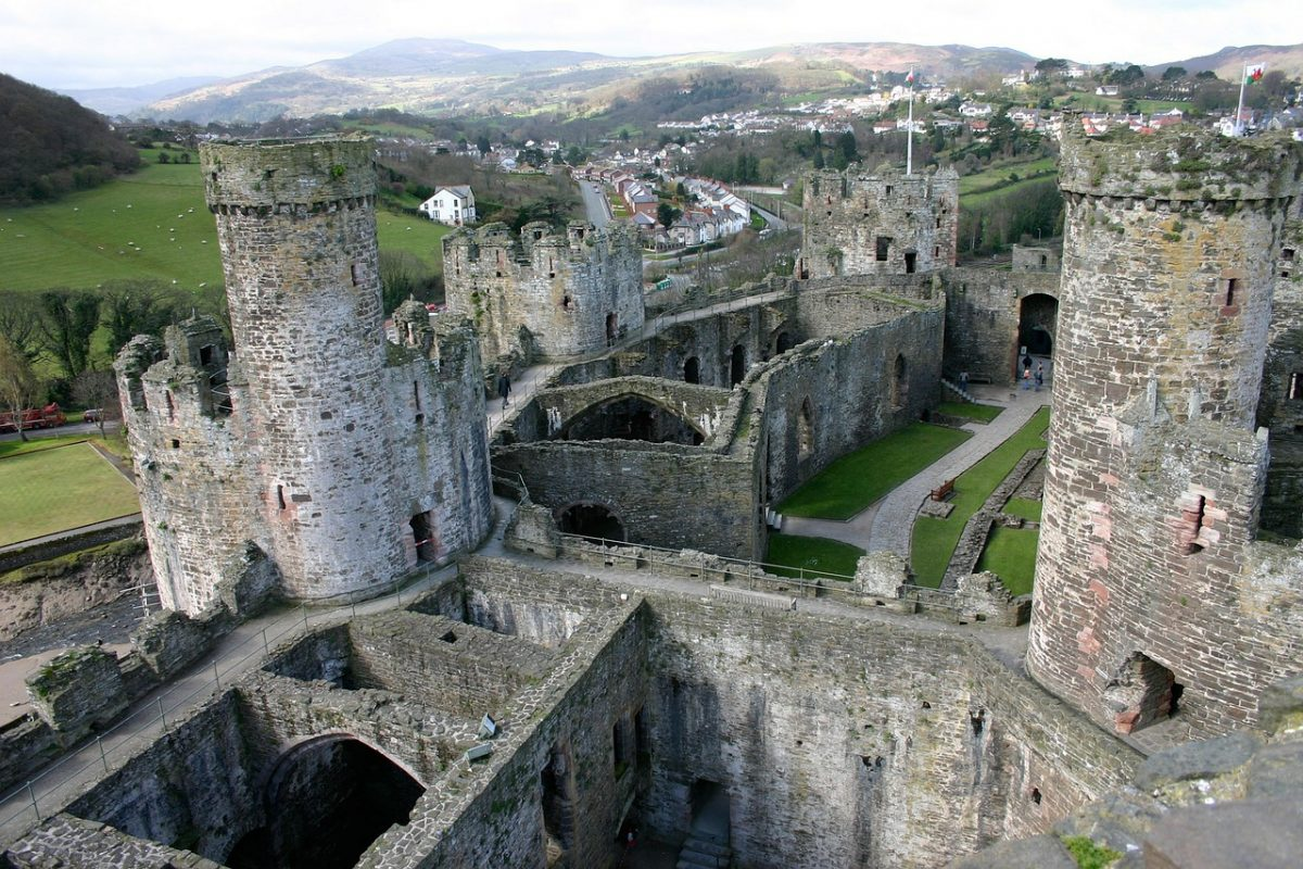 Another Edwardian castle, Conwy Castle is located on the northern coast of Wales, in the quaint village of Conwy.