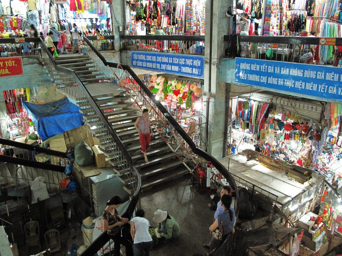 A look inside Dong Ba Market in Hue, Vietnam