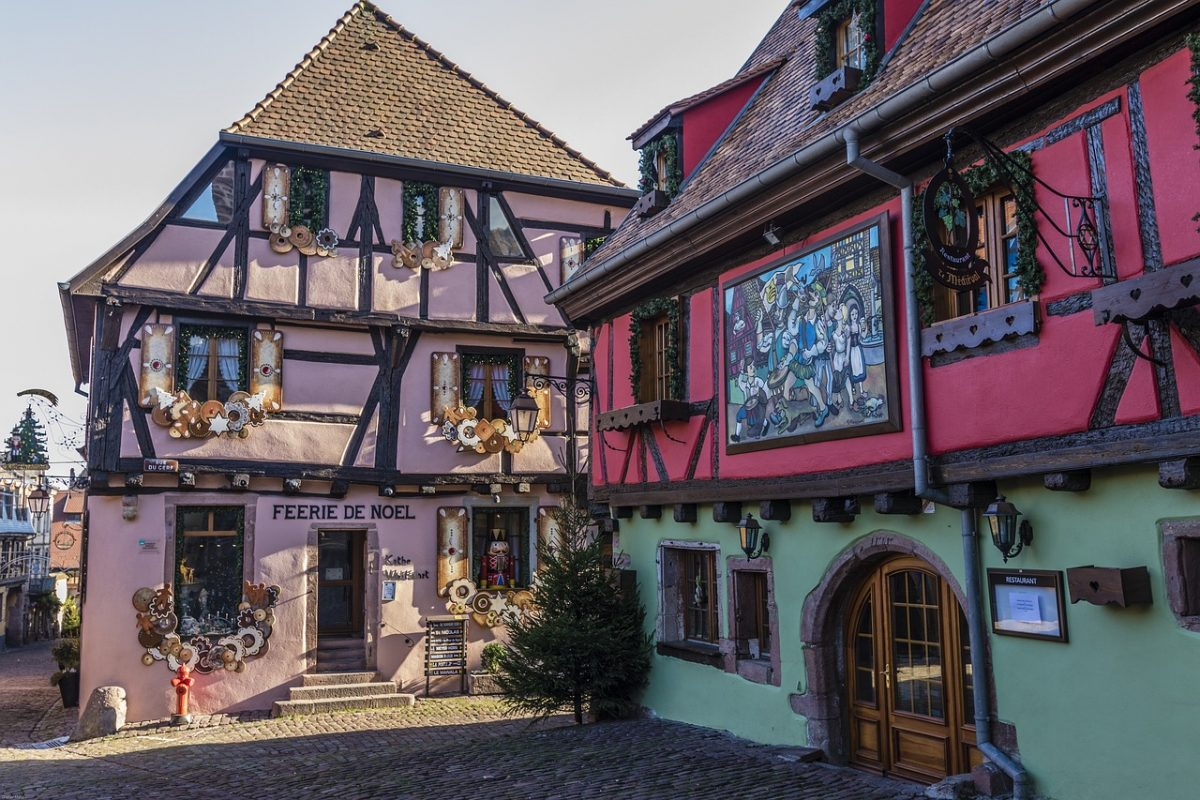 Half timbered houses in Riquewihr, France