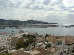 A panoramic view of Ibiza