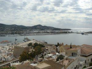 Une vue panoramique d'Ibiza