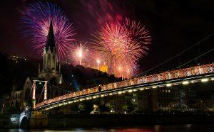Fireworks in Lyon
