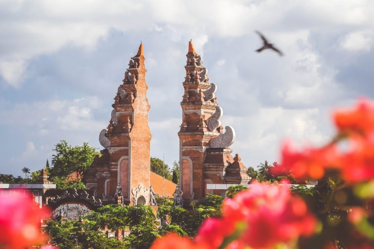 holy temple with traditional architecture in Bali, Indonesia