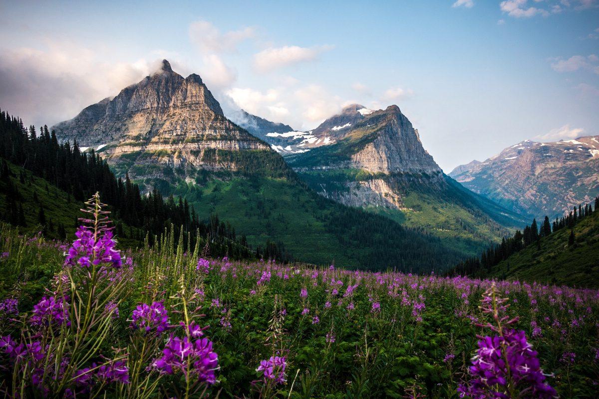 Glacier National Park during spring