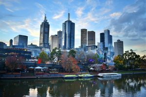 Melbourne Cityscape over melbourne river during the day