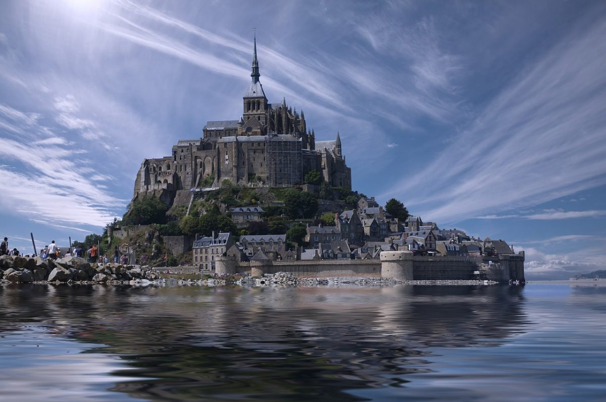Mont Saint Michel Abbey in France