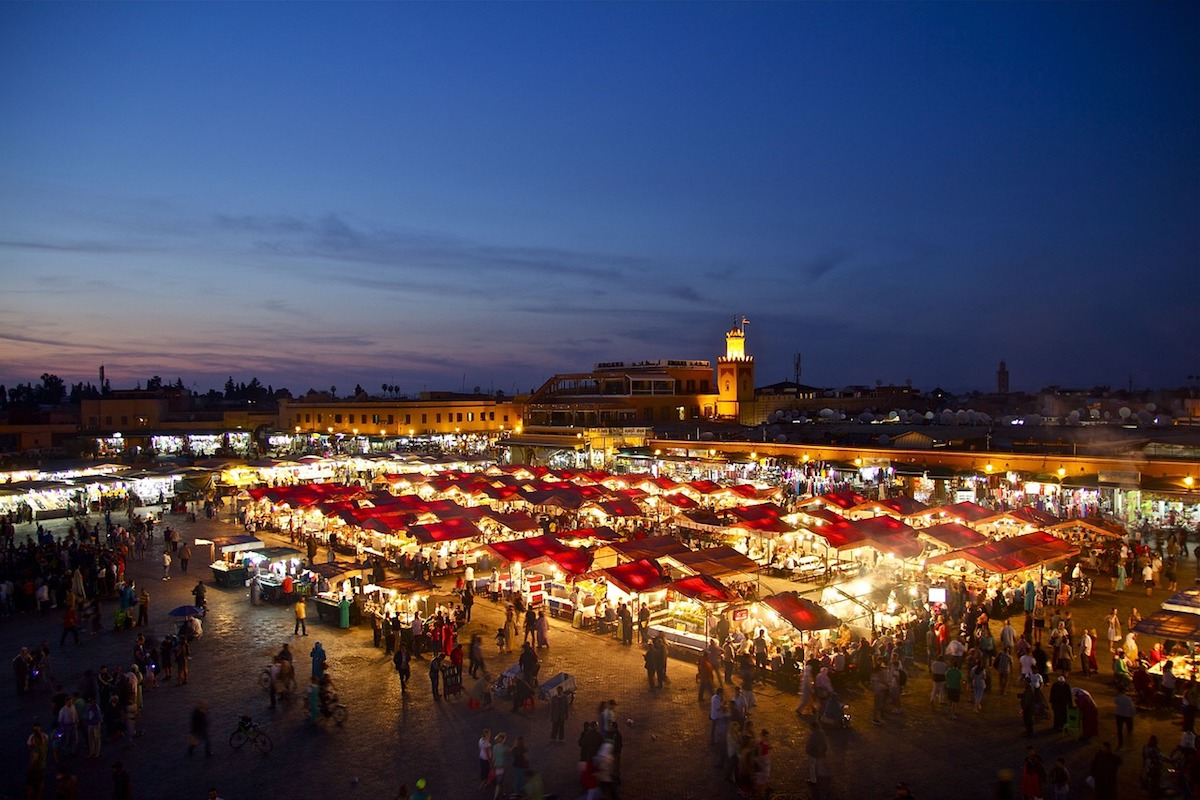 Bazaar in Morocco, North Africa