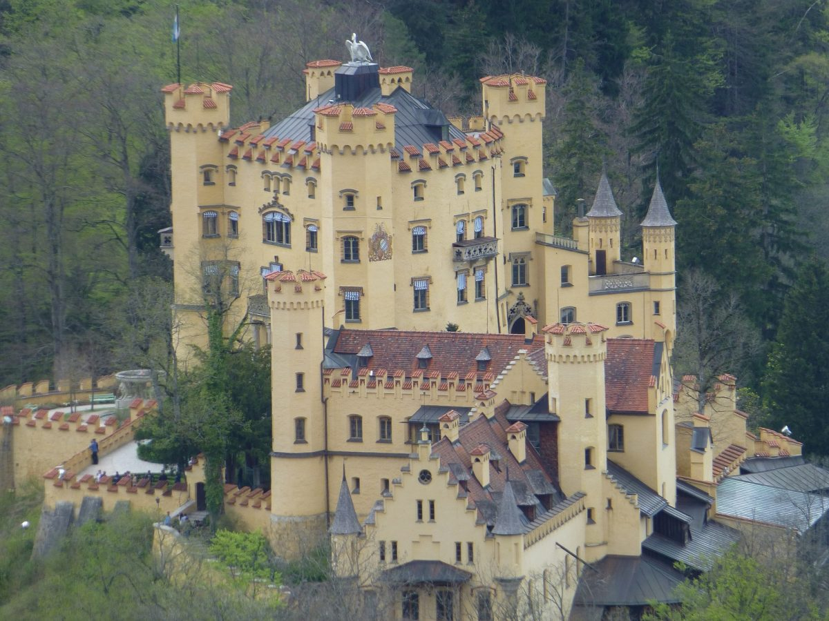 The childhood residence of King Ludwig II of Bavaria, Hohenschwangau Castle is a 19th-century palace located in the town of the same name in southern Germany.