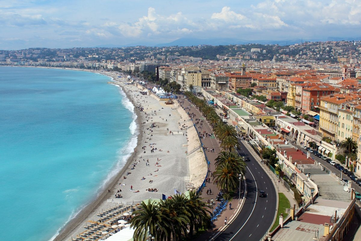 Promenade d'Anglais in Nice, France