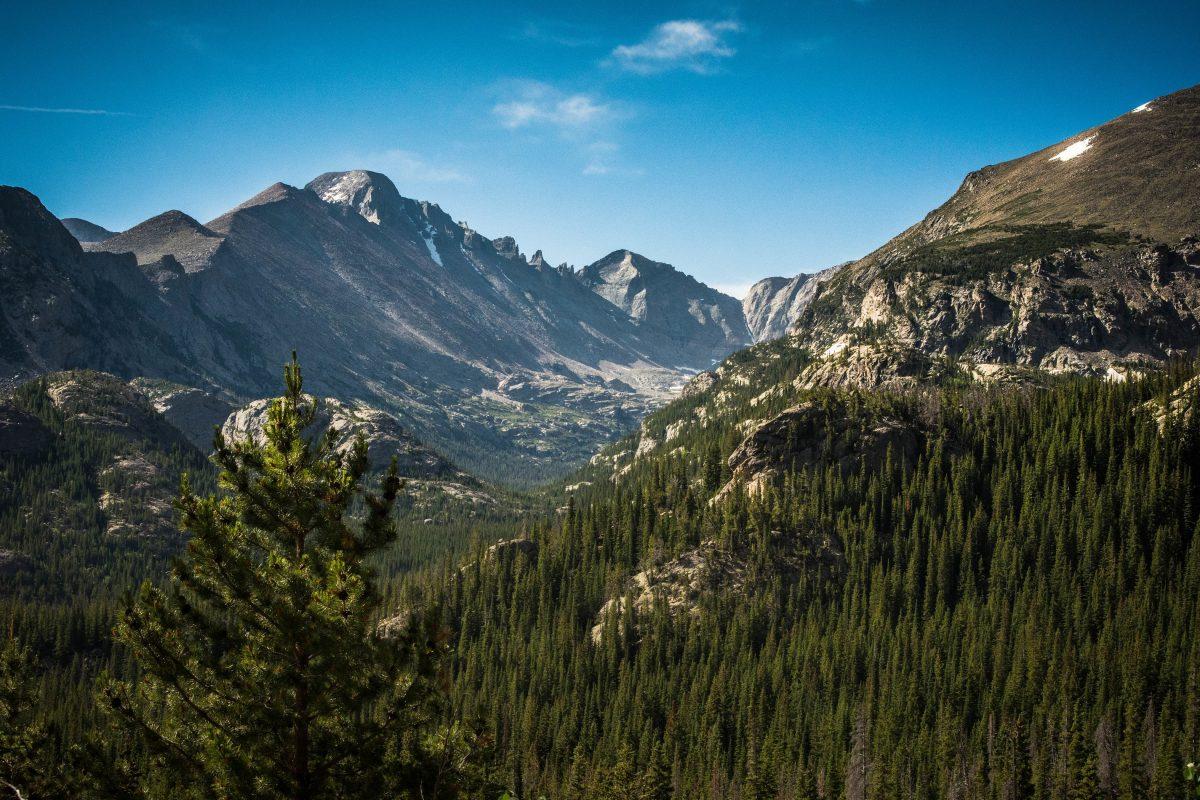 Este Park the base of Rocky Mountain Colorado